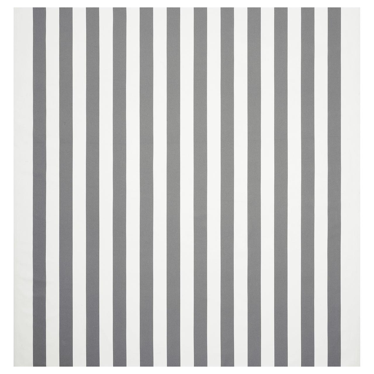 СОФИА Ткань, в широкую полоску, белый/серый