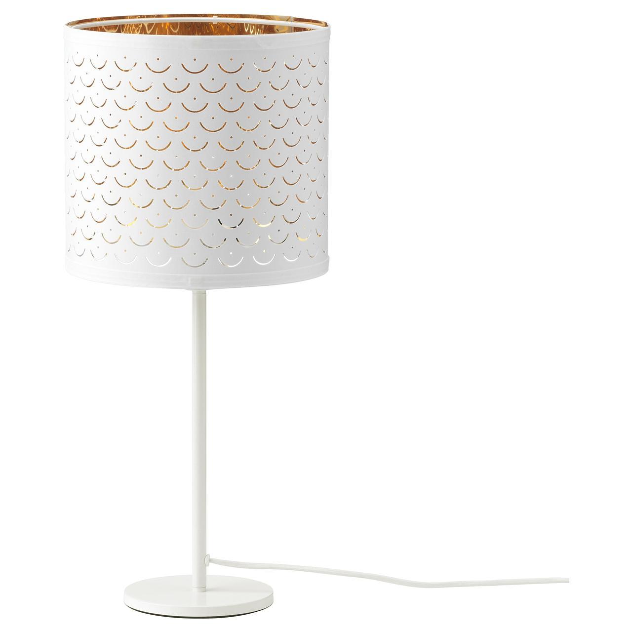 НИМО / РОДД Лампа настольная, белый латунь, белый
