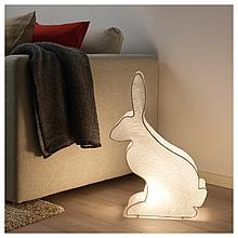 СТРОЛА Светодиодное настольное украшение, заяц, белый