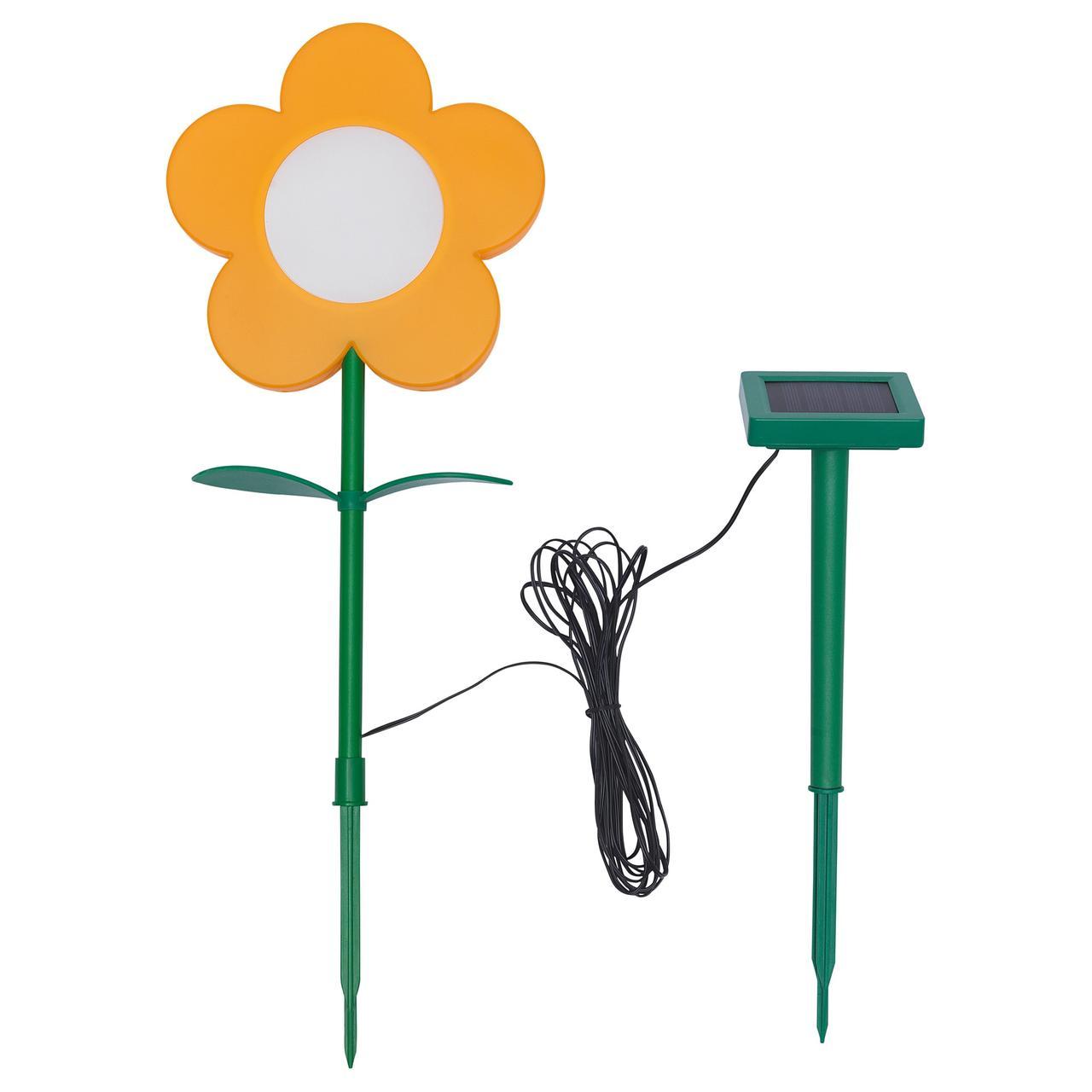 СОЛВИДЕН Подсветка н/солн батарее,светодиод, для сада, цветок желтый
