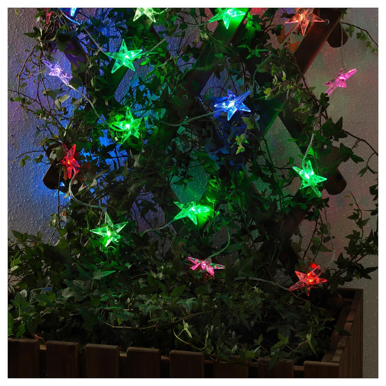 СТРОЛА Гирлянда, 24 светодиода, для сада, мигающий звезда