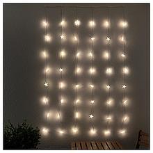 СТРОЛА Гирлянда-драпировка, 48 светодиодов, для сада звезда