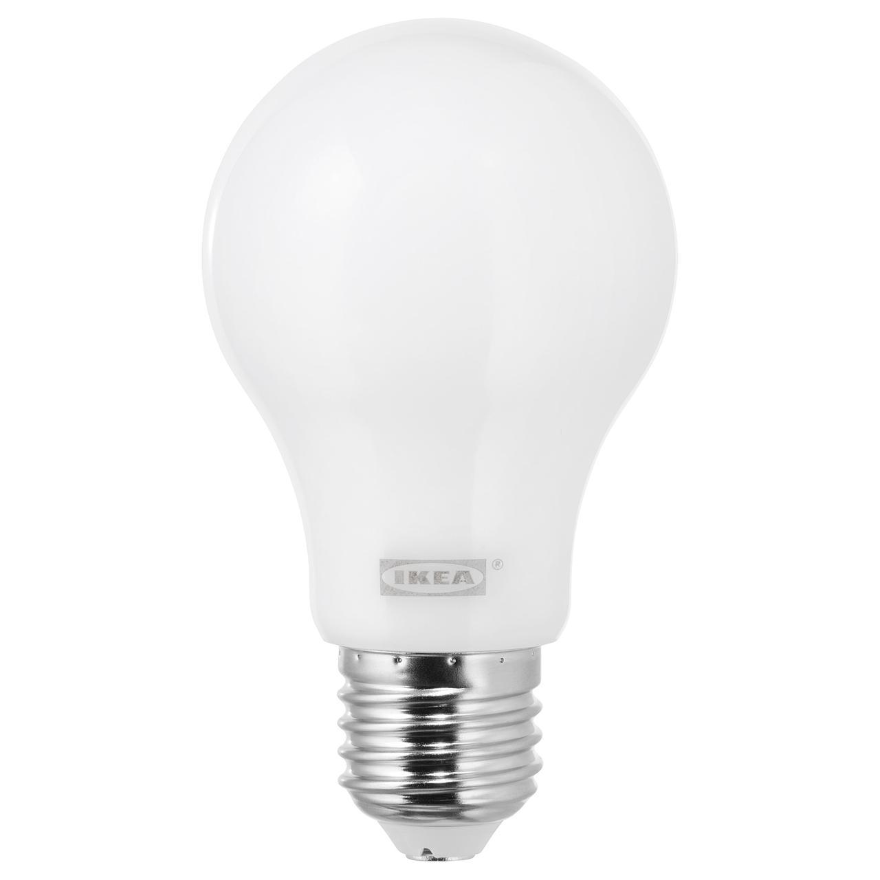 ЛЕДАРЕ Светодиод E27 600 лм, регулируемая яркость регулируемая яркость, теплый, шарообразный молочный