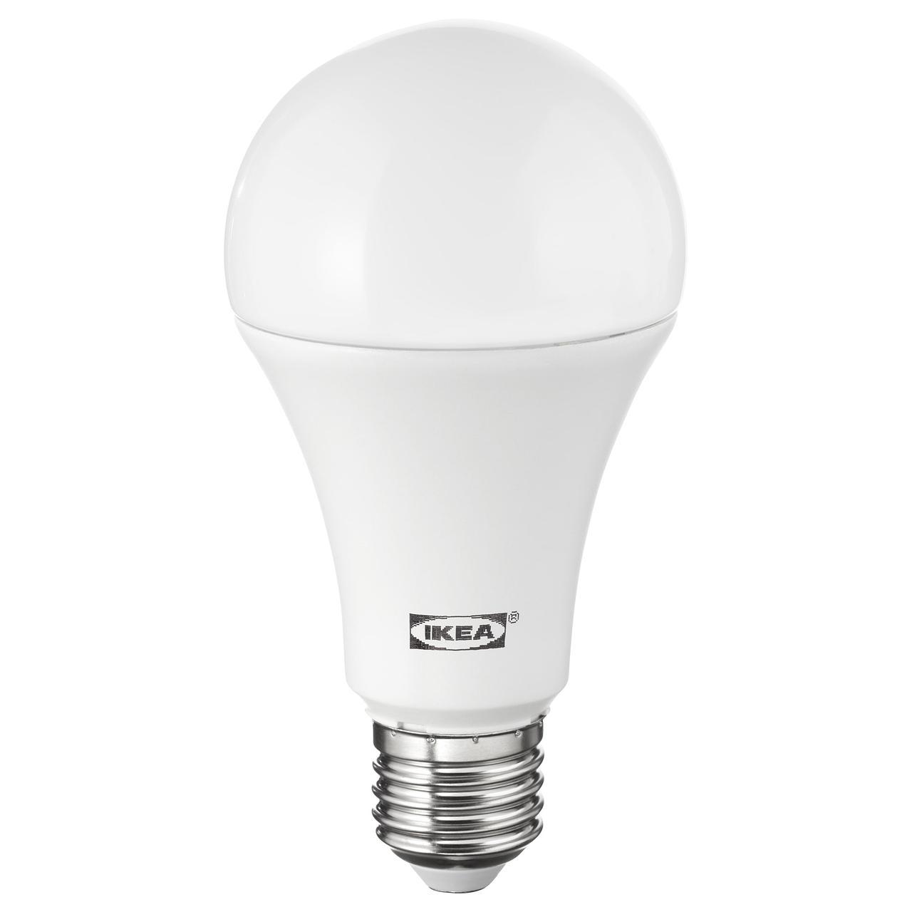 ЛЕДАРЕ Светодиод E27 1600 лм, регулируемая яркость регулируемая яркость, теплый, шарообразный молочный