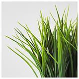 ФЕЙКА Искусственное растение в горшке, трава, фото 3