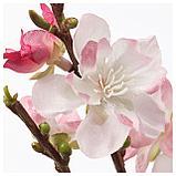 СМИККА Цветок искусственный, цветы вишни, розовый, фото 2