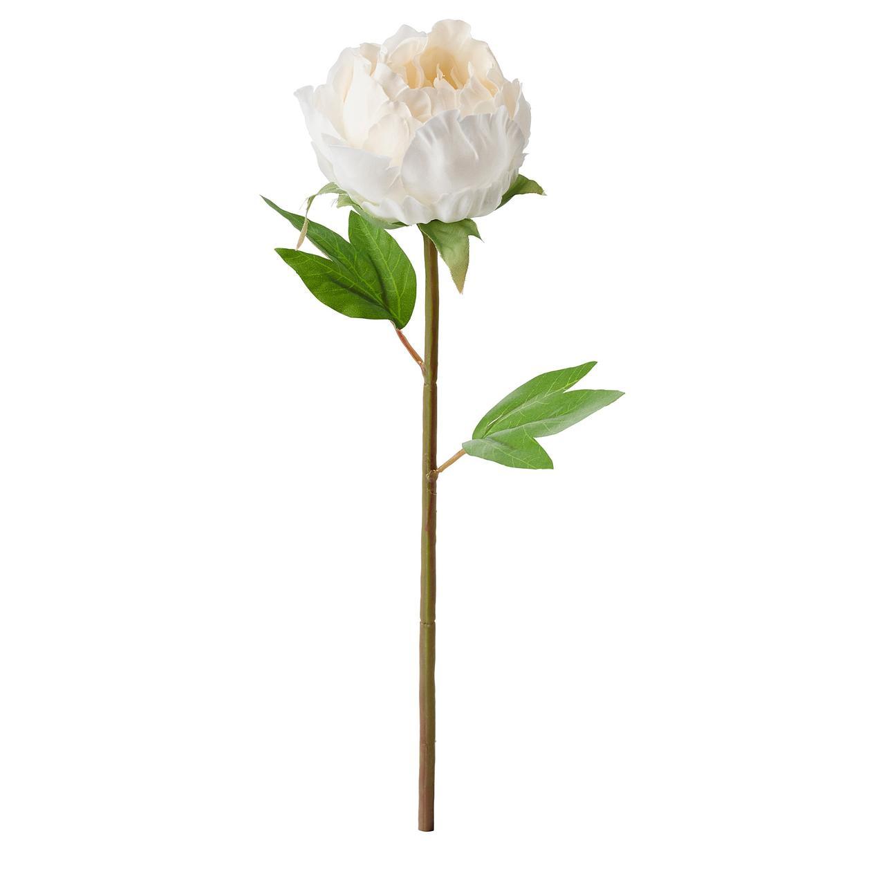 СМИККА Цветок искусственный, Пион, белый