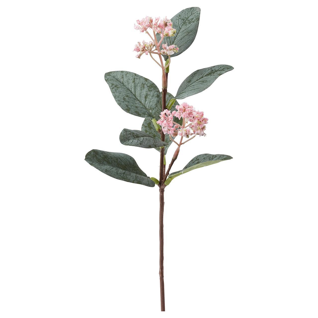 СМИККА Цветок искусственный, розовый эвкалипт, розовый