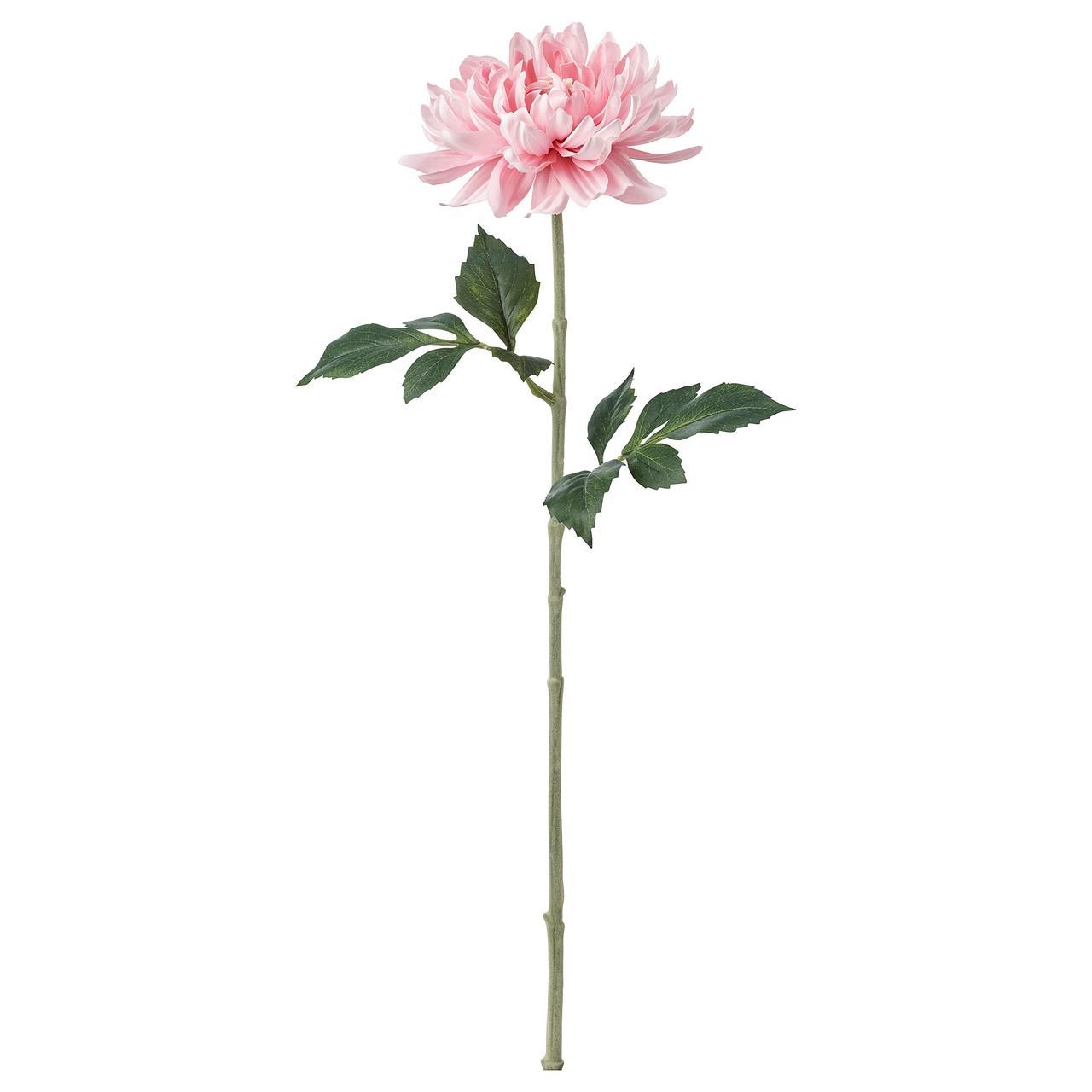 СМИККА Цветок искусственный, Георгин, светло-розовый