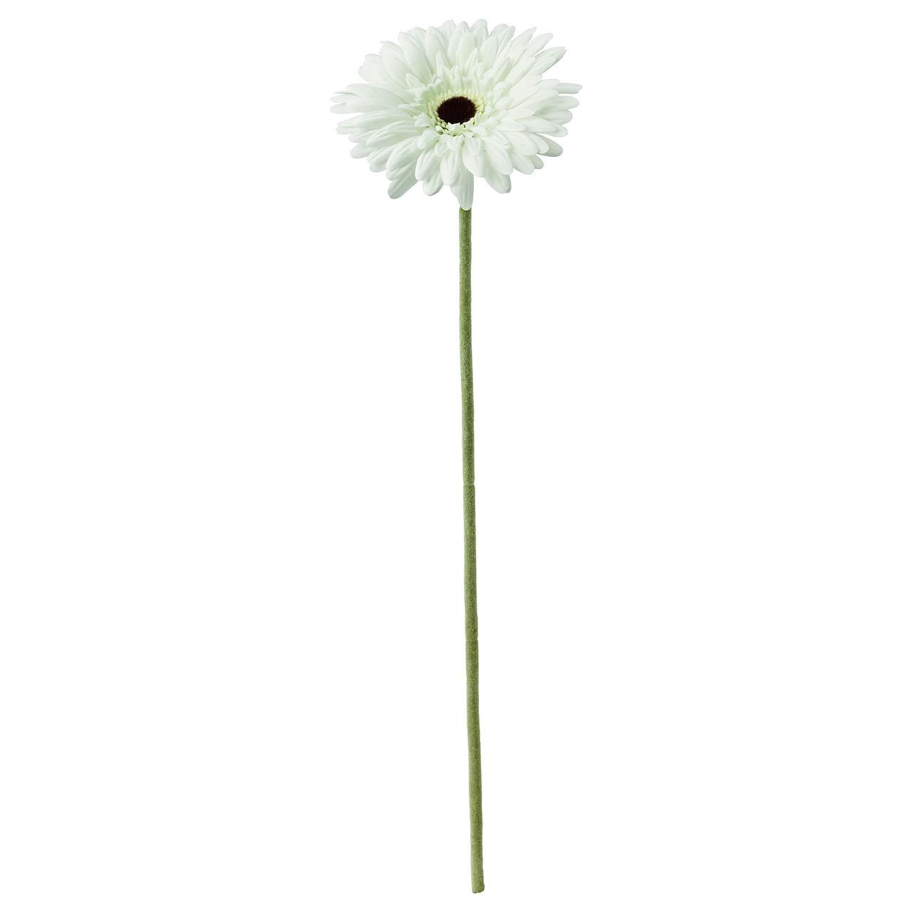 СМИККА Цветок искусственный, Гербера, белый