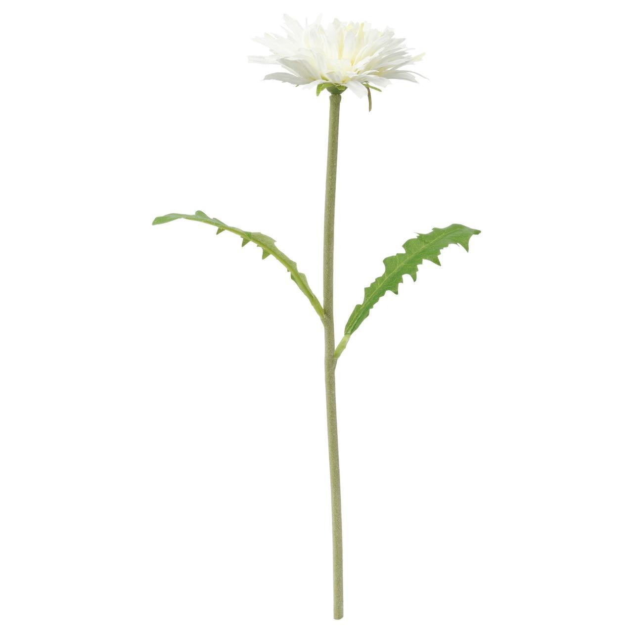 СМИККА Цветок искусственный, Одуванчик, белый