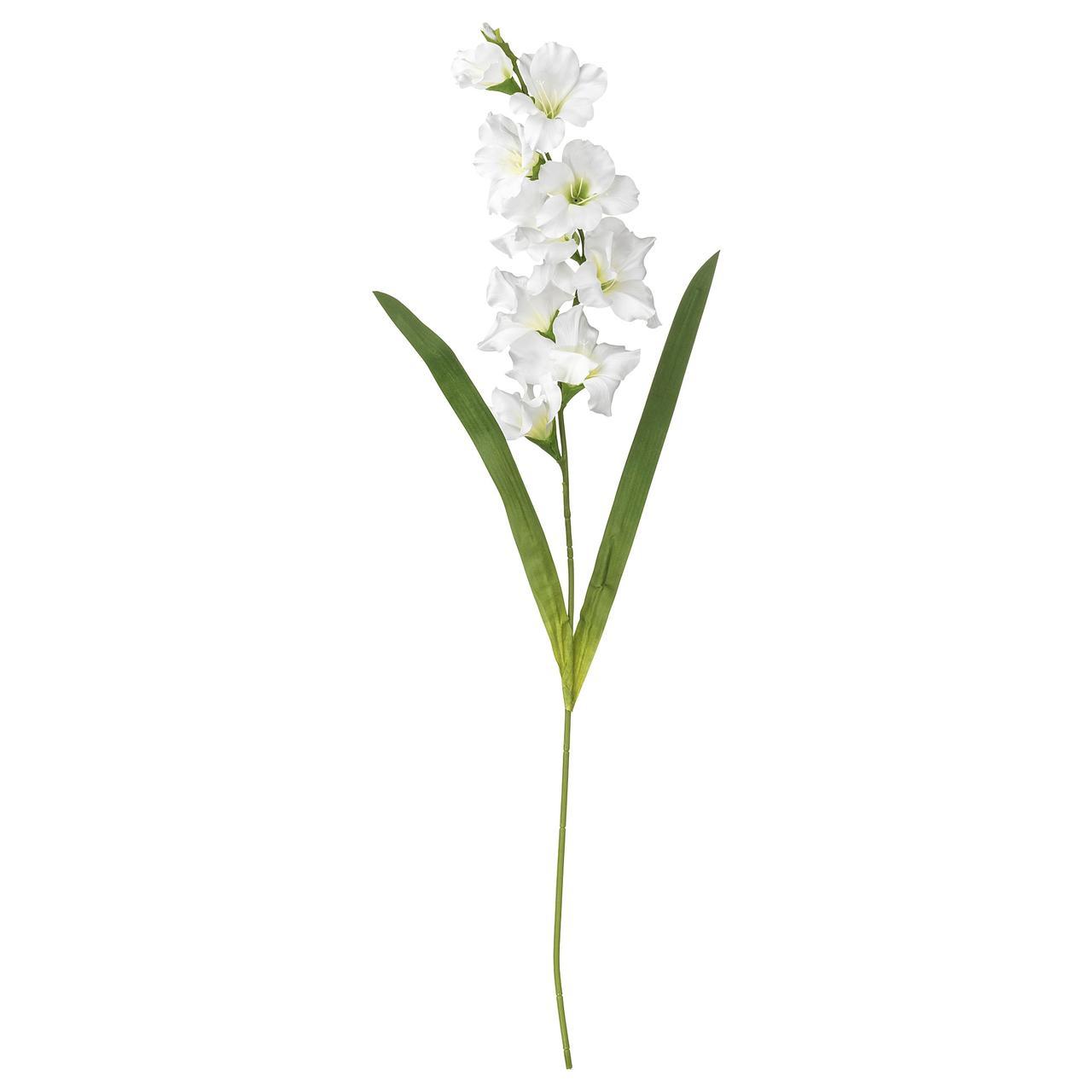 СМИККА Цветок искусственный, Гладиолус, белый