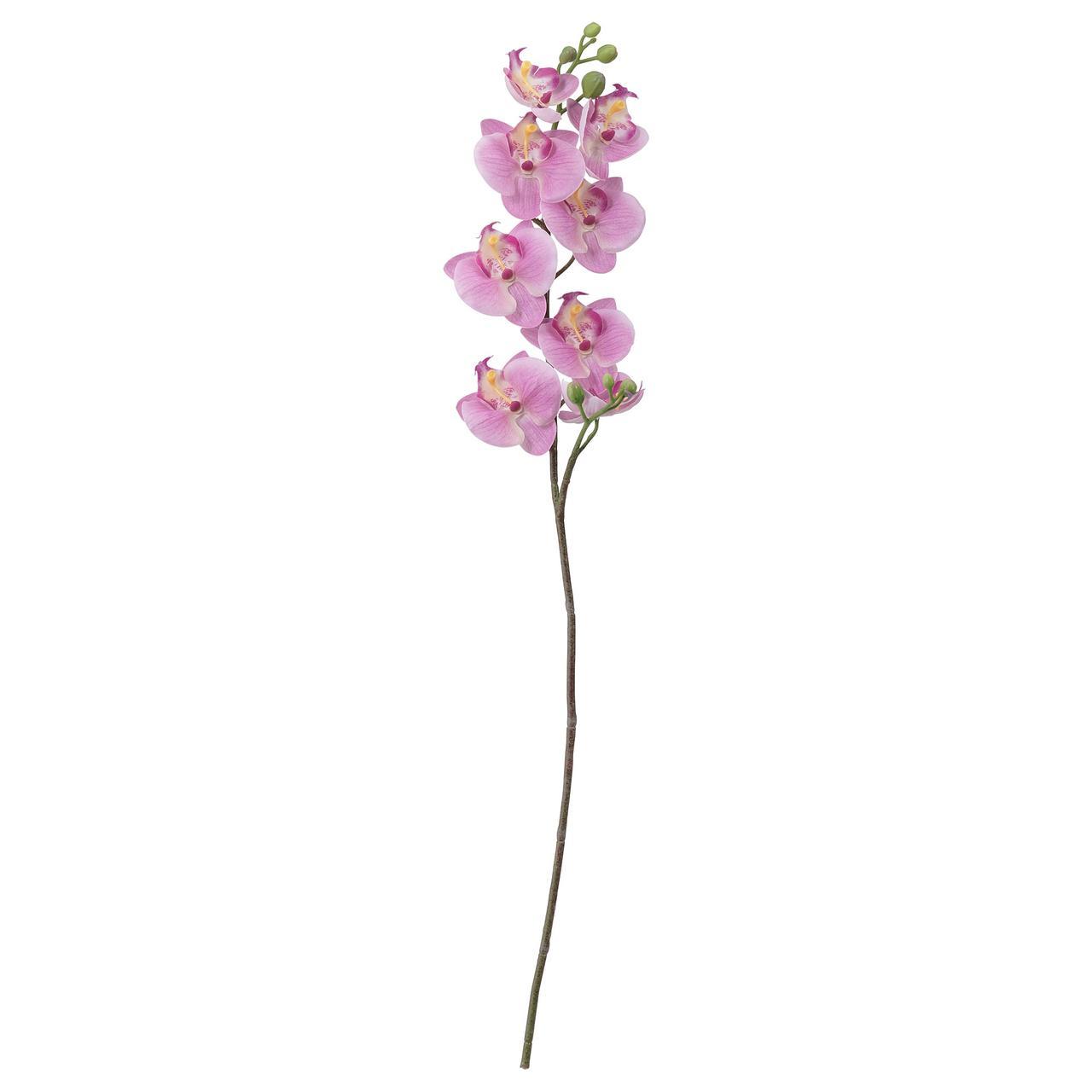 СМИККА Цветок искусственный, Орхидея, розовый