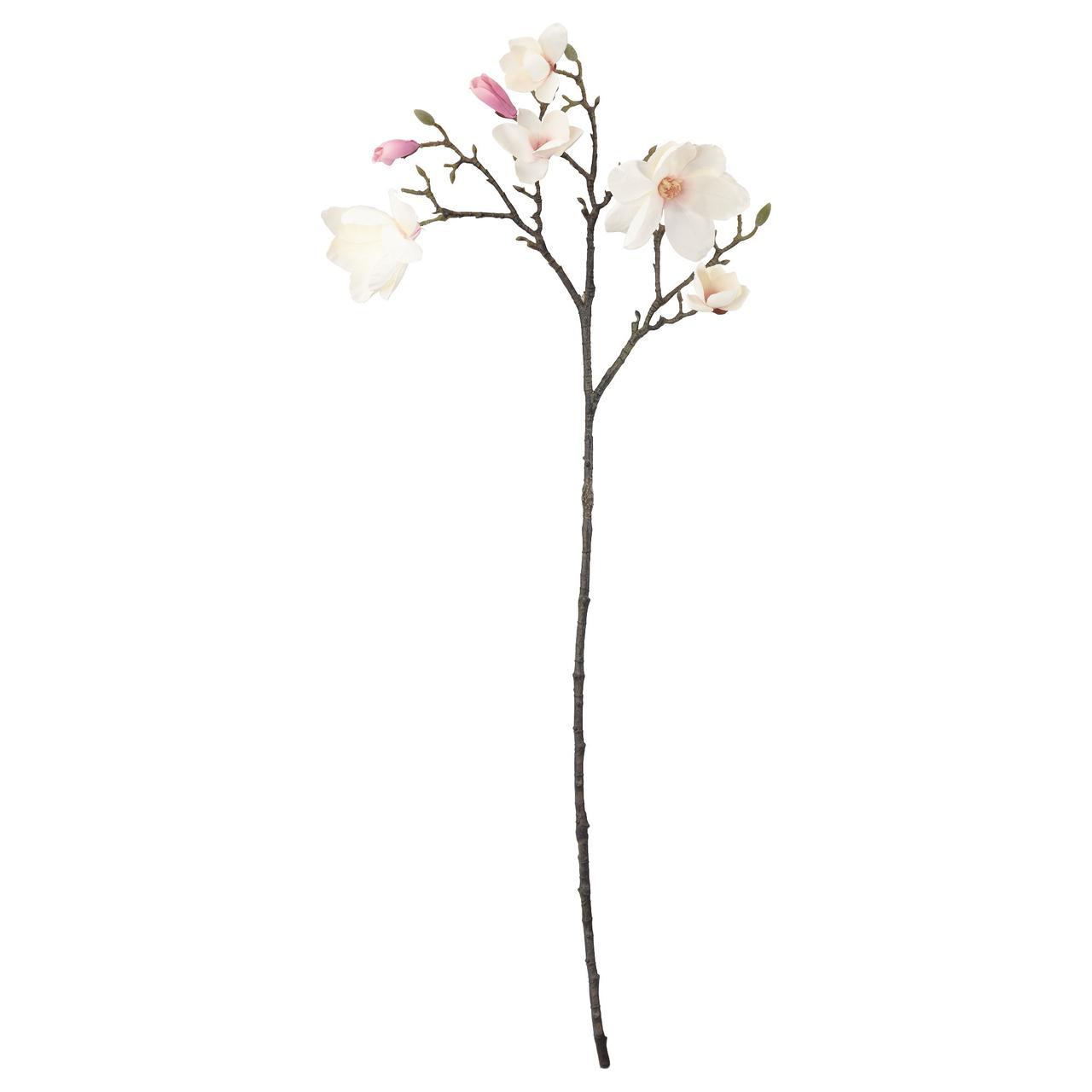 СМИККА Цветок искусственный, Магнолия, розовый