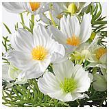 ФЕЙКА Искусственное растение в горшке, д/дома/улицы, космея белый, фото 4