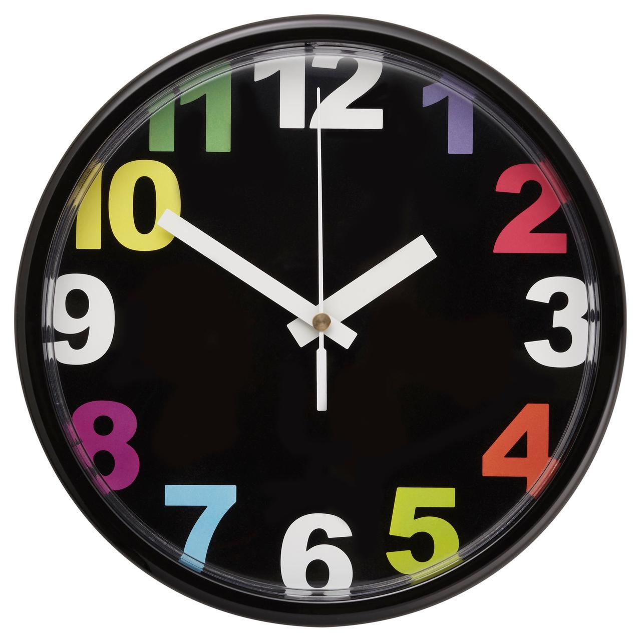 ЮККЕ Настенные часы, разноцветный