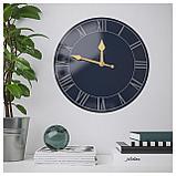 ПОЛЛЕТТ Настенные часы, темно-синий, фото 2