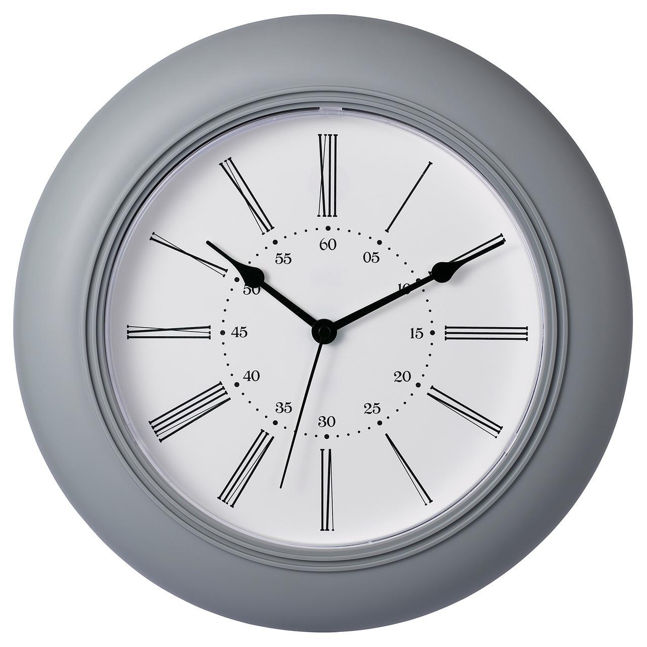 СКАЙРОН Настенные часы, серый