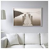 БЬЁРКСТА Картина с рамой, Пристань на рассвете, цвет алюминия, фото 2