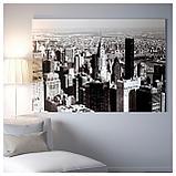 БЬЁРКСТА Картина с рамой, Мегаполис, цвет алюминия, фото 3