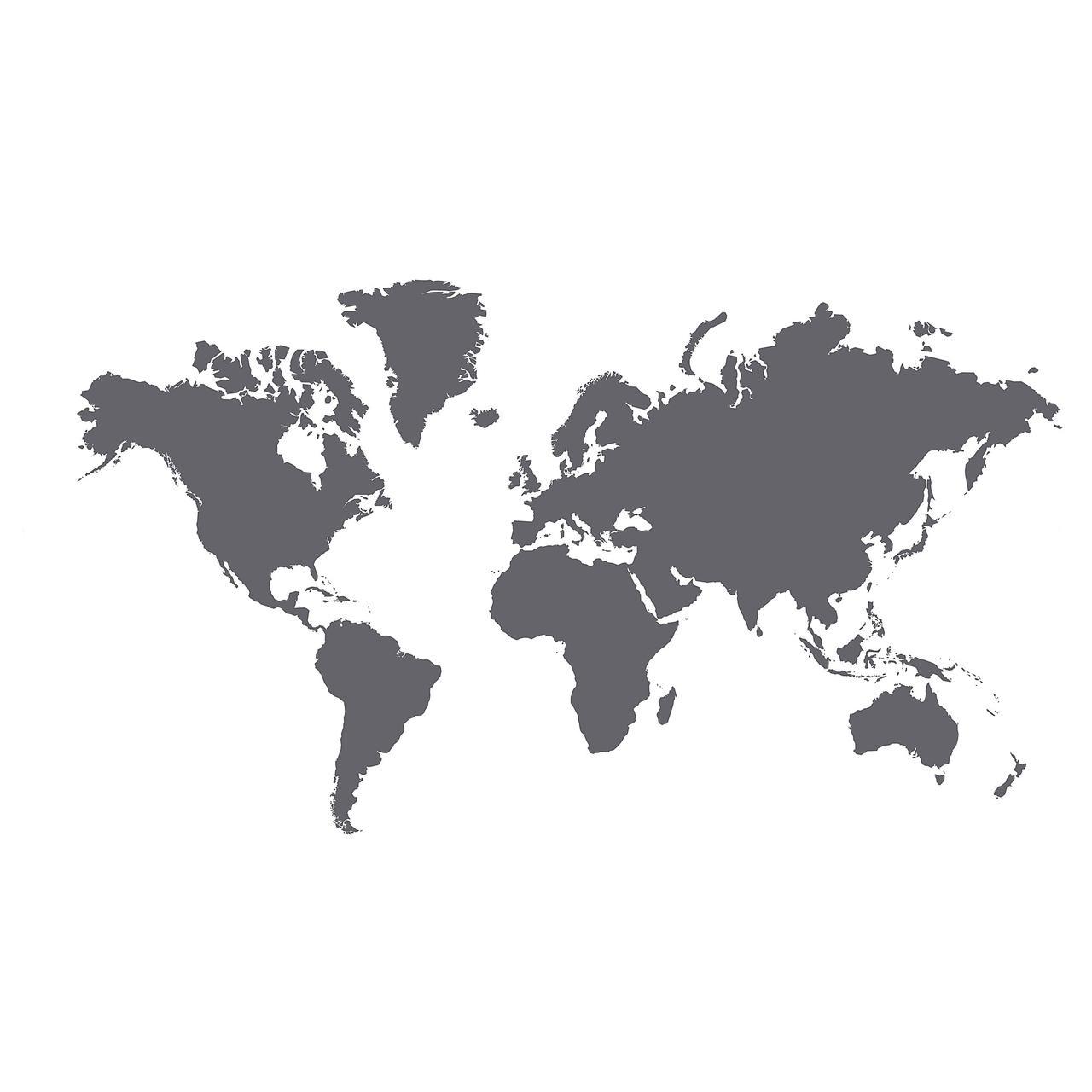КЛЭТТА Декоративные наклейки, карта мира