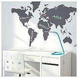 КЛЭТТА Декоративные наклейки, карта мира, фото 4