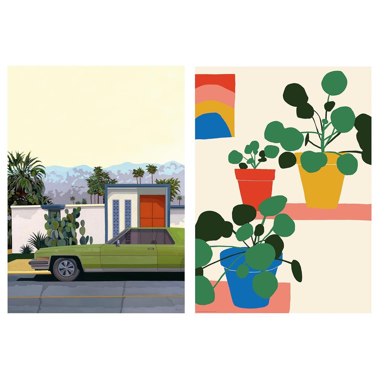 БИЛЬД Постер, Машины и цветы