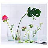 ЦИЛИНДР Набор ваз,3 штуки, прозрачное стекло, фото 3