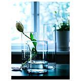 ЦИЛИНДР Набор ваз,3 штуки, прозрачное стекло, фото 4
