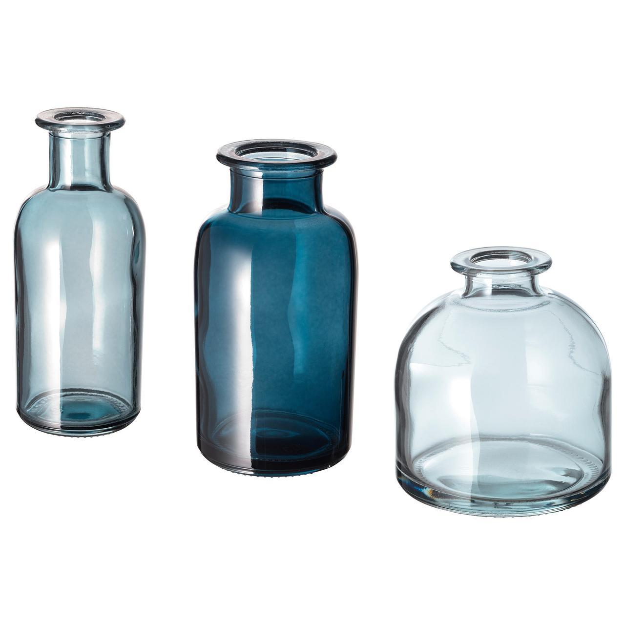 СОММАР 2019 Набор ваз,3 штуки, синий