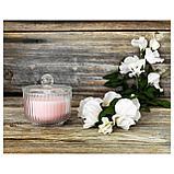 БЛОМДОРФ Ароматическая свеча в стакане, душистый горошек, светло-оранжевый, фото 5