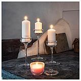 БЛОМДОРФ Ароматическая свеча в стакане, душистый горошек, светло-оранжевый, фото 6