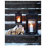БОРБЮ Фонарь для формовой свечи, д/дома/улицы черный, фото 3
