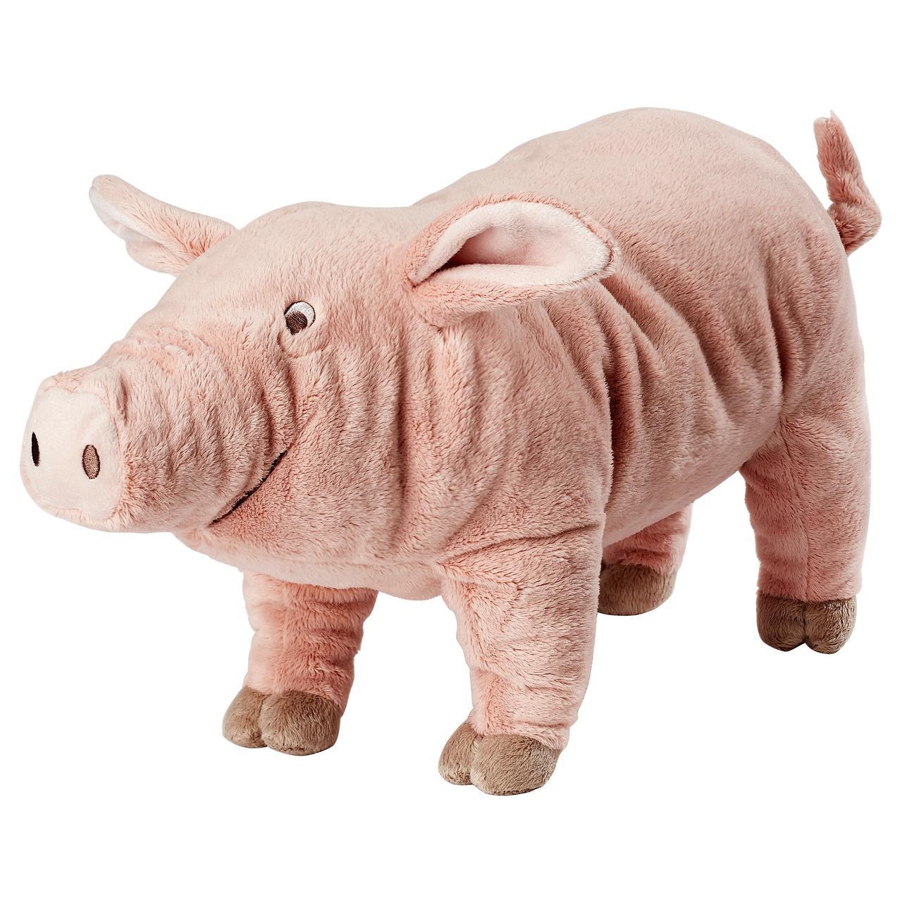 КНОРРИГ Мягкая игрушка, поросенок, розовый