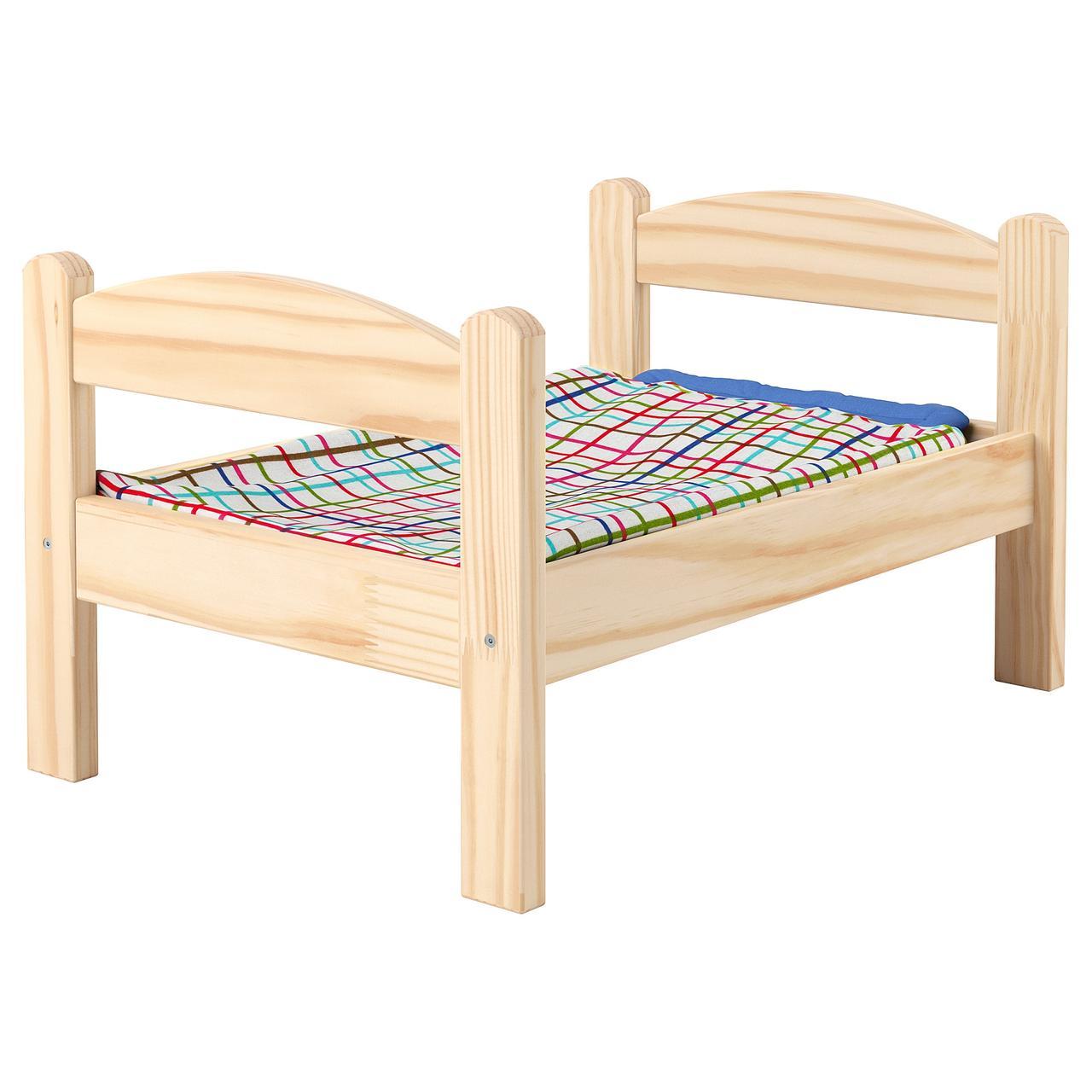 ДУКТИГ Куколн кровать с компл пост белья, сосна, разноцветный