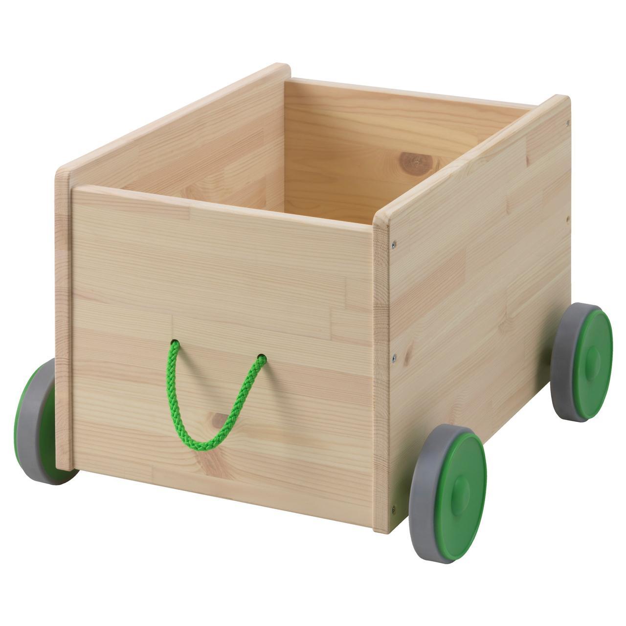 ФЛИСАТ Контейнер д/игрушек, с колесиками