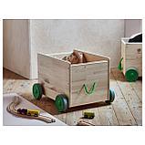 ФЛИСАТ Контейнер д/игрушек, с колесиками, фото 2