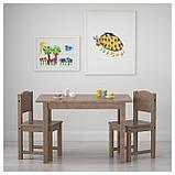 СУНДВИК Детский стул, серо-коричневый, фото 2