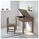 СУНДВИК Детский стул, серо-коричневый, фото 3