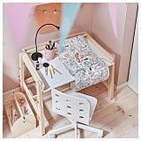 ФЛИСАТ Детский письменный стол, регулируемый, фото 2