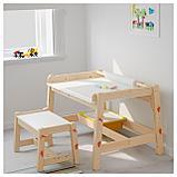 ФЛИСАТ Детский письменный стол, регулируемый, фото 3