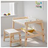 ФЛИСАТ Детский письменный стол, регулируемый, фото 4