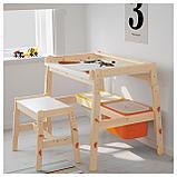 ФЛИСАТ Детский письменный стол, регулируемый, фото 5