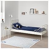 МИННЕН Каркас раздв кровати+реечн днище, белый, фото 6