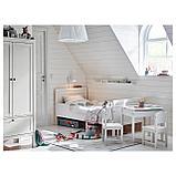 СУНДВИК Каркас раздв кровати+реечн днище, белый, фото 2