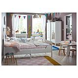 СУНДВИК Каркас раздв кровати+реечн днище, белый, фото 3