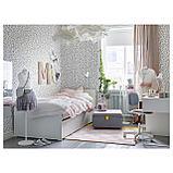СЛЭКТ Выдвижная кровать с ящиком, белый, фото 3