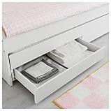 СЛЭКТ Выдвижная кровать с ящиком, белый, фото 5