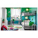 СВЭРТА Каркас 2-ярусной кровати, серебристый, фото 4