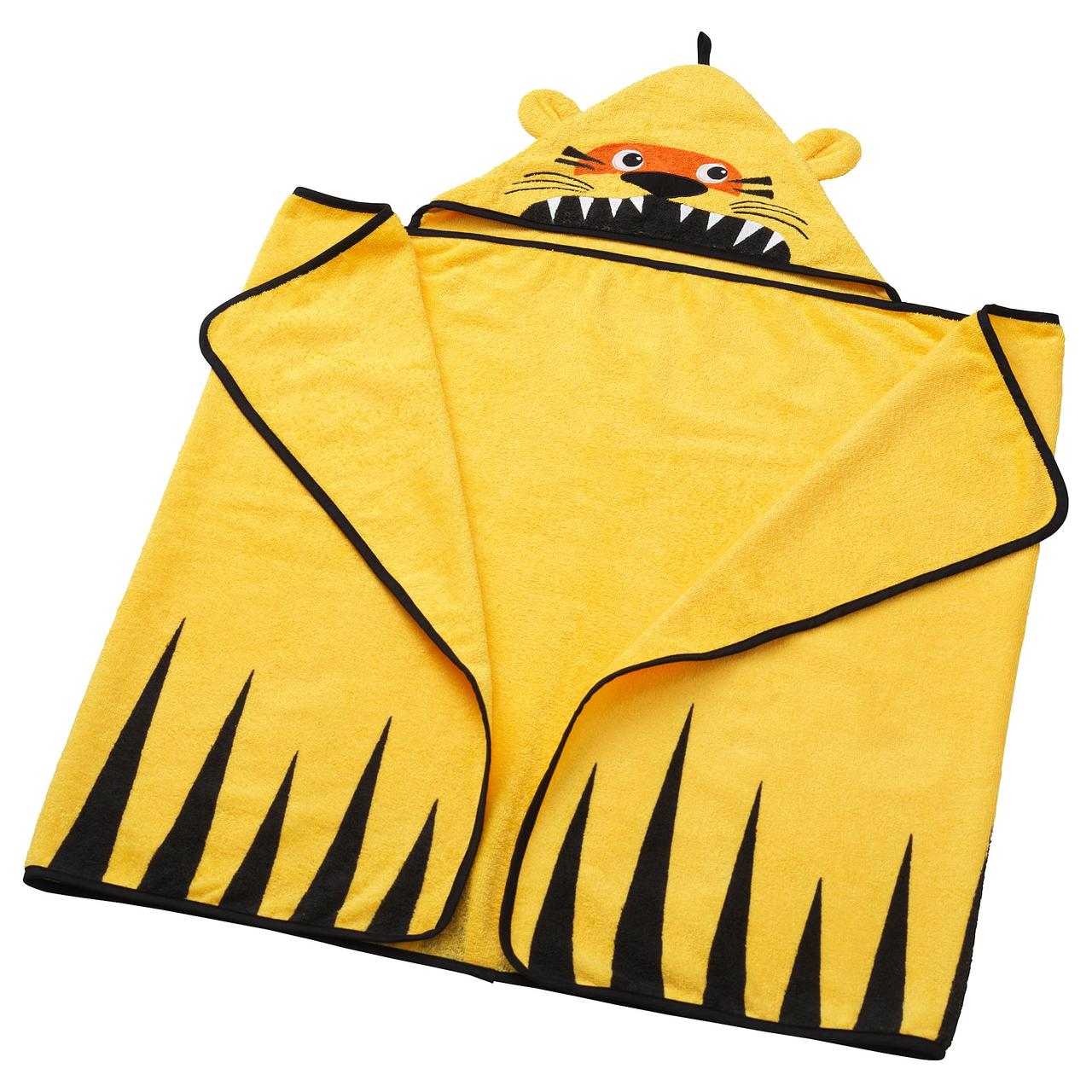 ДЬЮНГЕЛЬСКОГ Полотенце с капюшоном, тигр, желтый